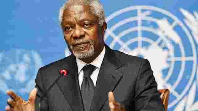 Помер колишній генсек ООН і лауреат Нобелівської премії миру Кофі Аннан