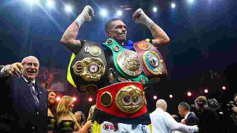 Олександр Усик визнаний боксером року за версією авторитетного журналу The Ring