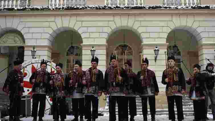 На завершення свят у центрі Львова організували концерт автентичних гуцульських колядок