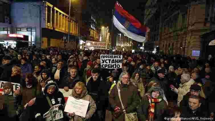 У Сербії тисячі людей закликали президента країни піти у відставку