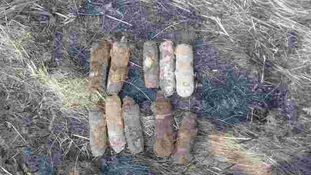 Піротехніки ДСНС  у Стрийському районі знешкодили 10 артснарядів часі Другої світової війни