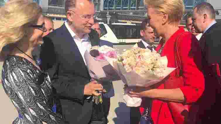 До Львова з офіційним візитом прибула дружина президента Польщі