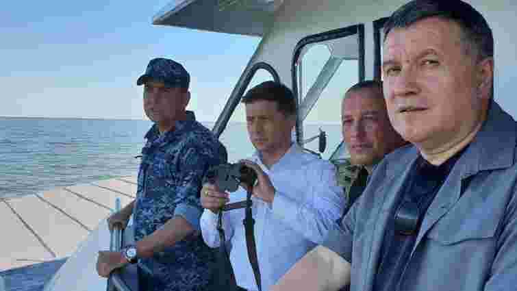 Зеленський з Аваковим оглянули навчання українських військових в Азовському морі