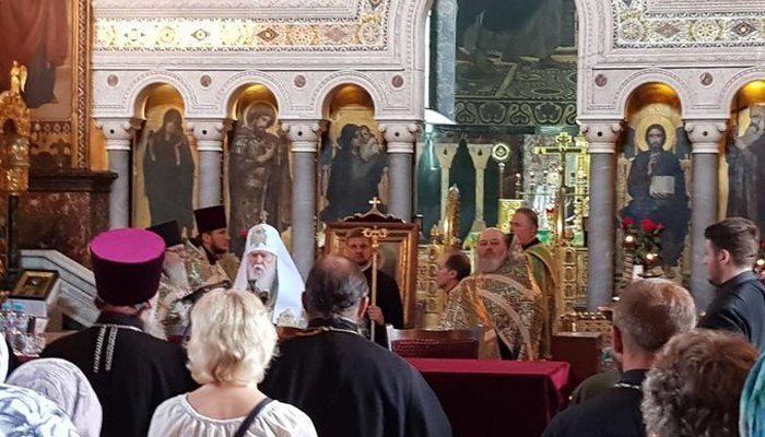 Зібрання прихильників УПЦ (КП) під проводом Філарета