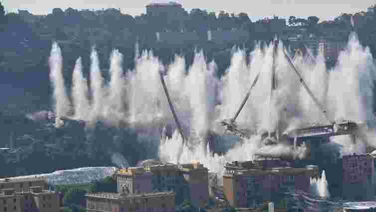 У Генуї знесли міст, під завалами якого торік загинули 43 людей