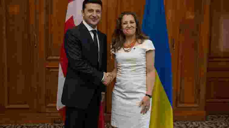 Зеленський пообіцяв міністерці закордонних справ Канади не відходити від євроінтеграції
