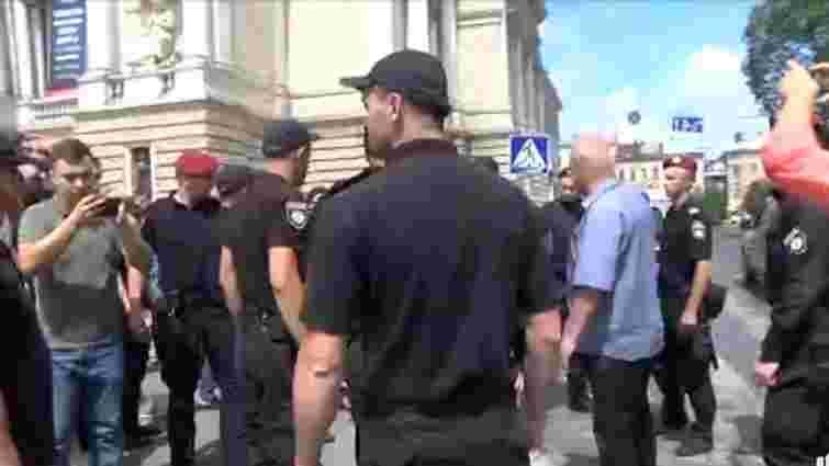 «Нацкорпус» розігнав акцію на підтримку Анатолія Шарія у Львові