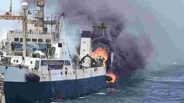 Українське судно загорілося біля берегів Західної Африки, один з членів екіпажу зник
