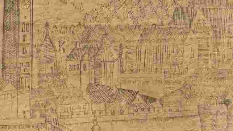 Історики віднайшли давню гравюру із зображенням храму XVI ст. з площі Галицької у Львові