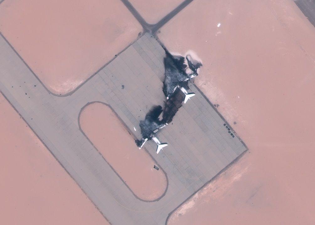 Знищені літаки на базі Аль-Джуфра