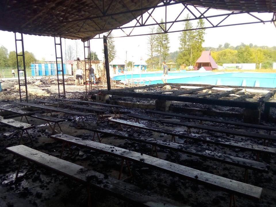 Згоріла сцена, де знайшли труп