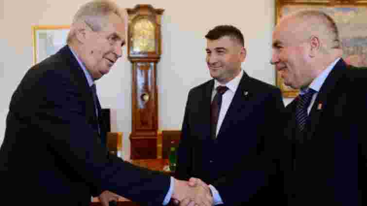 Президент Чехії Мілош Земан обговорив з делегацією русинів «автономію Закарпаття»