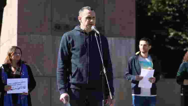 У Львові відбувся марафон на підтримку українських політв'язнів за участі Олега Сенцова