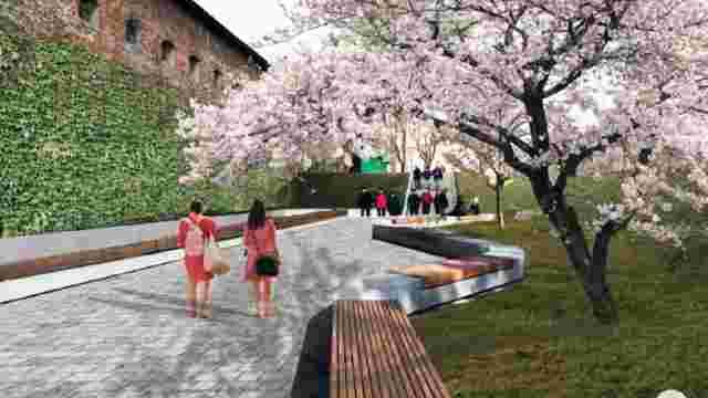 Громадський простір з фонтаном перед Глинянською брамою облаштують за 10,5 млн грн