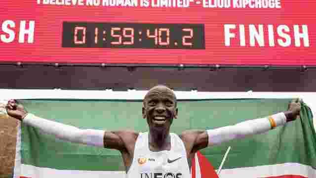 Кенієць Еліуд Кіпчоге став першою людиною, яка пробігла марафон менш ніж за 2 години