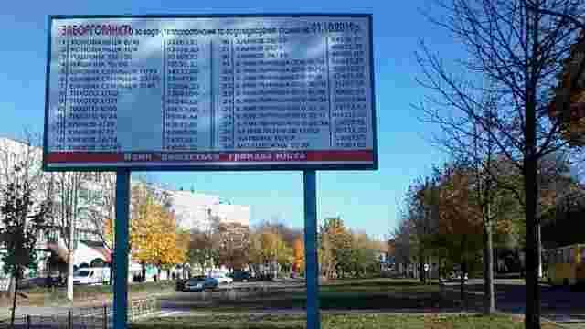Мукачівська мерія публікуватиме адреси боржників на білбордах