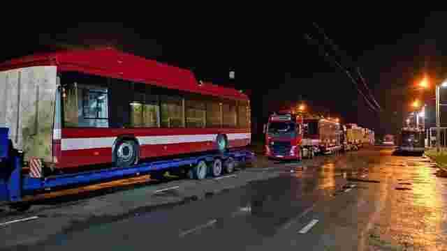 До Івано-Франківська почали прибувати білоруські тролейбуси з кондиціонерами