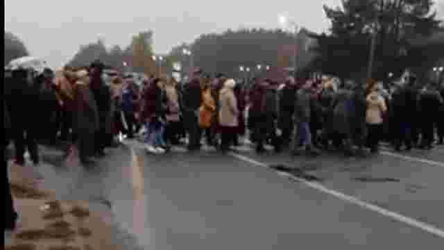 Через зрив опалювального сезону мешканці Новояворівська перекрили дорогу до кордону
