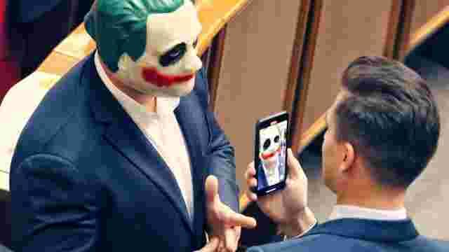 Народний депутат Ілля Кива прийшов у Верховну Раду в масці Джокера