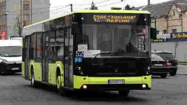 Маршрут львівського автобуса №52 продовжили до Рудного