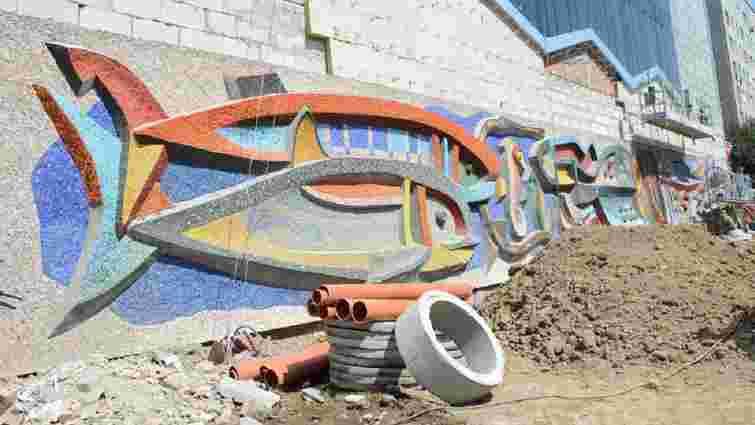 На колишньому магазині «Океан» на Володимира Великого відновили мозаїку