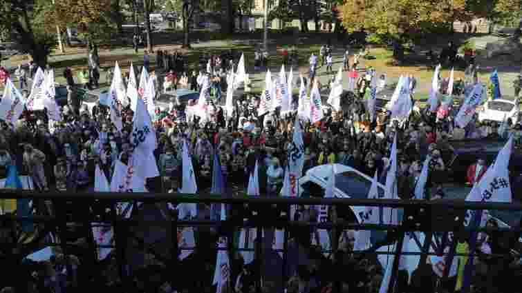 Дрібні підприємці на дві години заблокували вулицю у центрі Львова