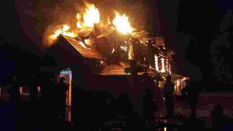 У селищі на Прикарпатті згоріла 170-річна дерев'яна церква УГКЦ