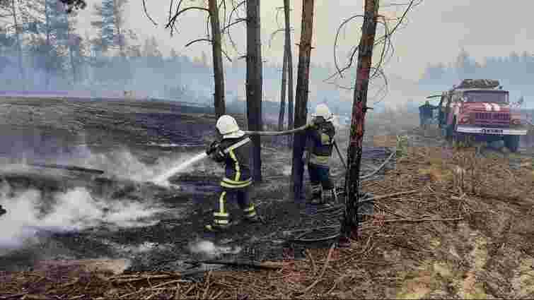 Рятувальники локалізували більшість осередків пожеж у Луганській області