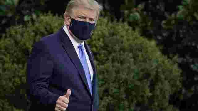 Трамп приховав результат свого першого позитивного тесту на коронавірус