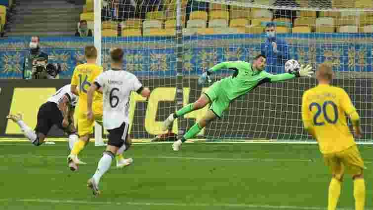 Збірна України програла Німеччині у матчі Ліги націй після грубої помилки воротаря