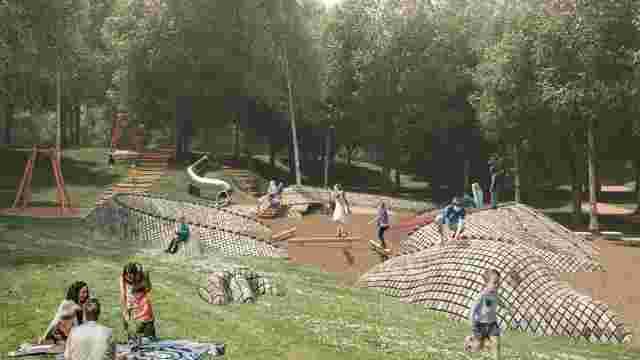 У львівському парку облаштують дитячий майданчик у формі дракона