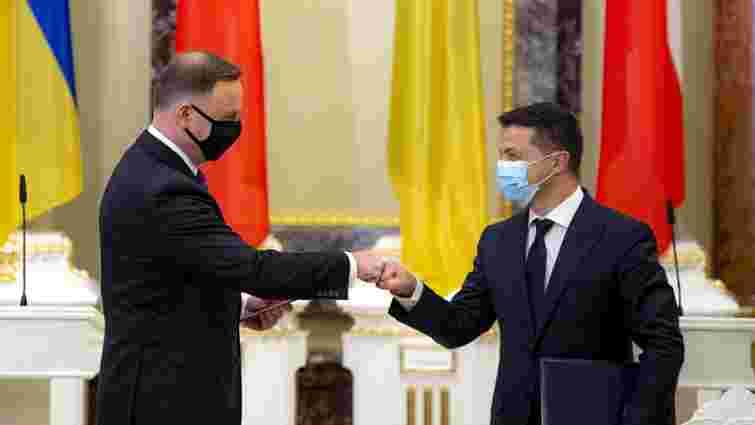 Офіс президента розповів подробиці зустрічі Зеленського із Дудою