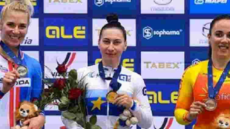 24-річна львів'янка стала чемпіонкою Європи з велотреку