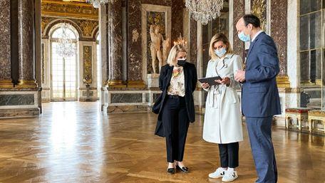 Олена Зеленська запустила україномовний аудіогід у Версалі