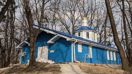 Церква ПЦУ в парку ветеринарного університету у Львові є тимчасовою