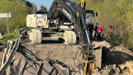 САД розробила схеми об'їзду зруйнованого моста на трасі Львів–Луцьк
