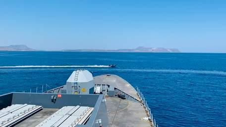 ФСБ опублікувала відео інциденту з британським кораблем біля Севастополя