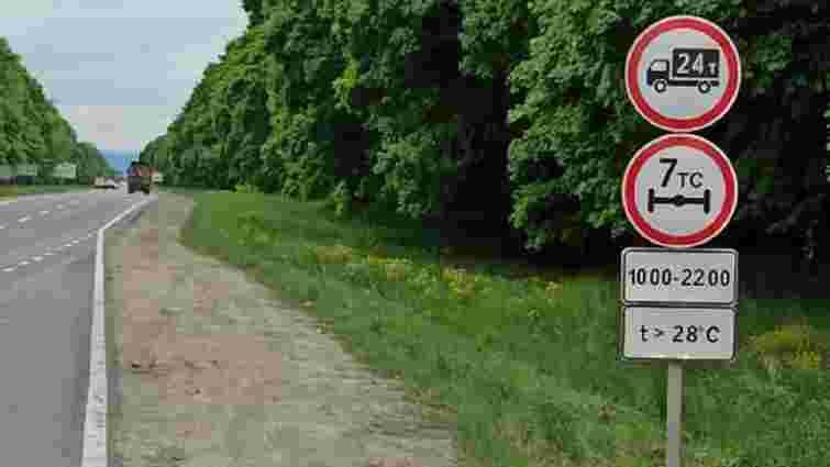 Через надмірну спеку на Львівщині  обмежили рух вантажівок