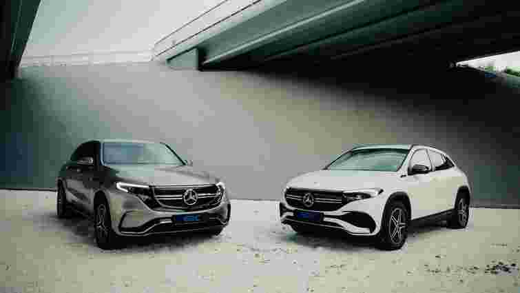 Електромобілі Mercedes-Benz EQA та EQC стали героями відеопрезентації в Україні