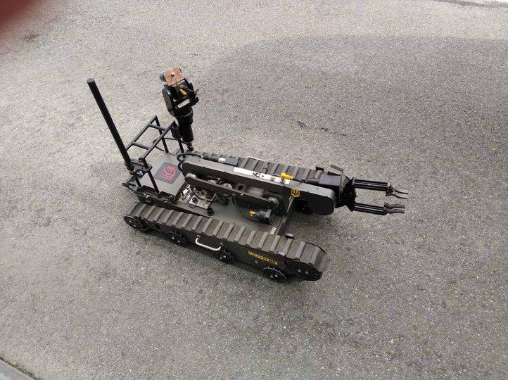 Вибухівку з аеропорту виніс спеціальний робот