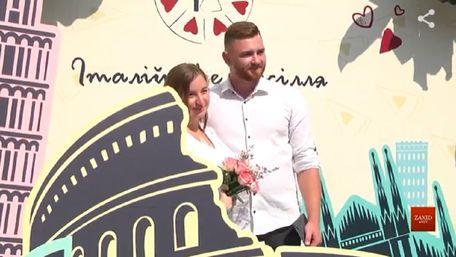 Львівські молодята одружились просто неба на фестивалі «Італійське весілля»