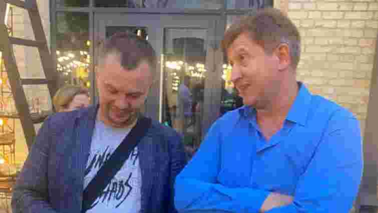 Екс-міністр Олександр Данилюк вдарив Тимофія Милованова на своєму дні народження