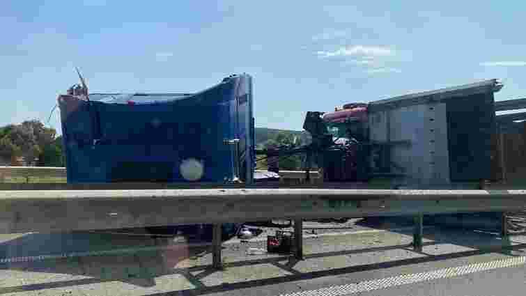 Перекинута вантажівка біля Миколаєва заблокувала рух на трасі Київ – Чоп