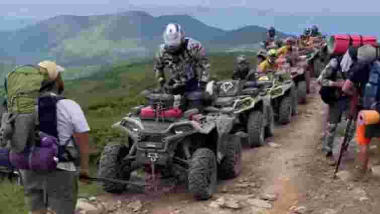 Закарпатські активісти не дозволили полякам поїхати квадроциклами на гору Петрос