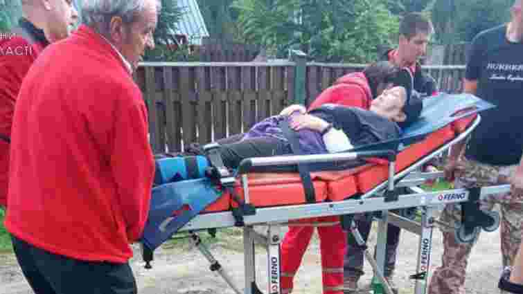 Туристка з Дніпра отримала відкритий перелом ноги у горах на Львівщині