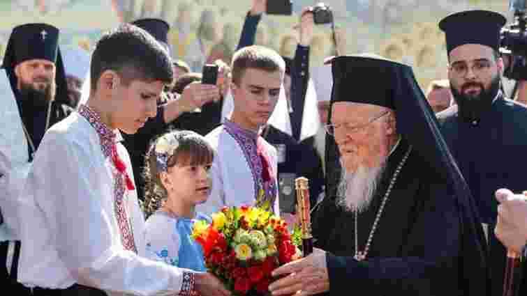 Патріарх Варфоломій взяв участь у подячній молитві у Михайлівському соборі