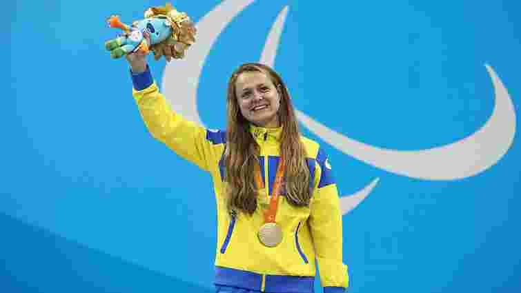 Плавчиня Анна Стеценко виборола третє золото для України на Паралімпіаді