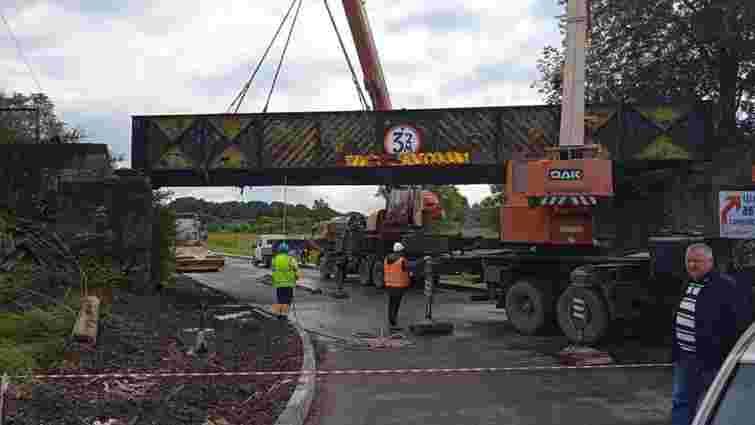 У Жидачеві під час ремонту дороги Стрий – Ходорів демонтували 75-річний міст