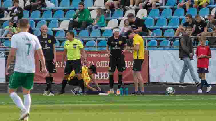 Під час матчу з «Карпатами» 24-річний футболіст «Буковини» отримав струс мозку