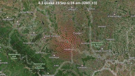 На межі Тернопільської та Івано-Франківської областей стався відчутний землетрус
